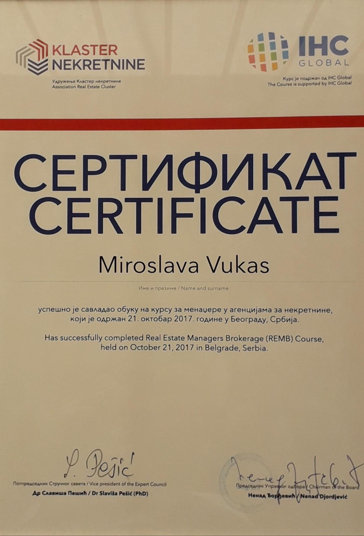 IHC Global sertifikat